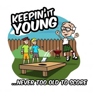 Keepin it Young - CornholeT-shirt